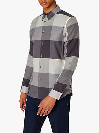 PS Paul Smith Brushed Flannel Check Shirt, Grey