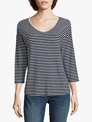 Betty Barclay Striped Top, Navy/White