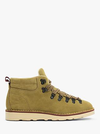 John Lewis & Partners Definitive Suede Hiker Boots, Pumpkin
