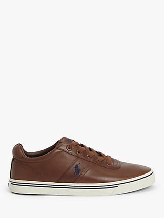 Polo Ralph Lauren Hanford Leather Trainers, Tan