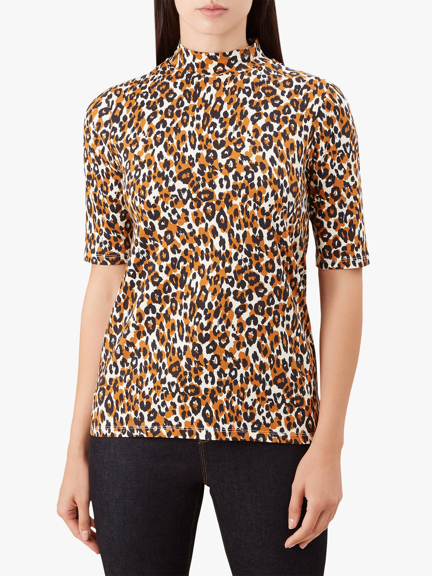996aa0e1325b2d Buy Hobbs Macy High Neck Top, Pumpkin Spice, XS Online at johnlewis.com ...
