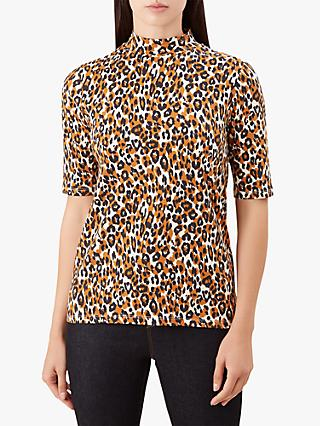 Hobbs Macy High Neck Top, Pumpkin Spice
