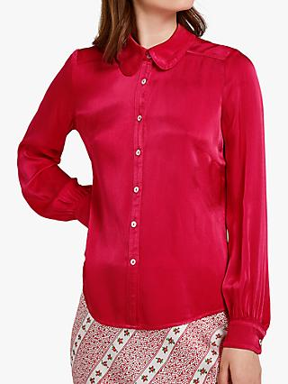 Ghost Daisy Satin Shirt, Coral