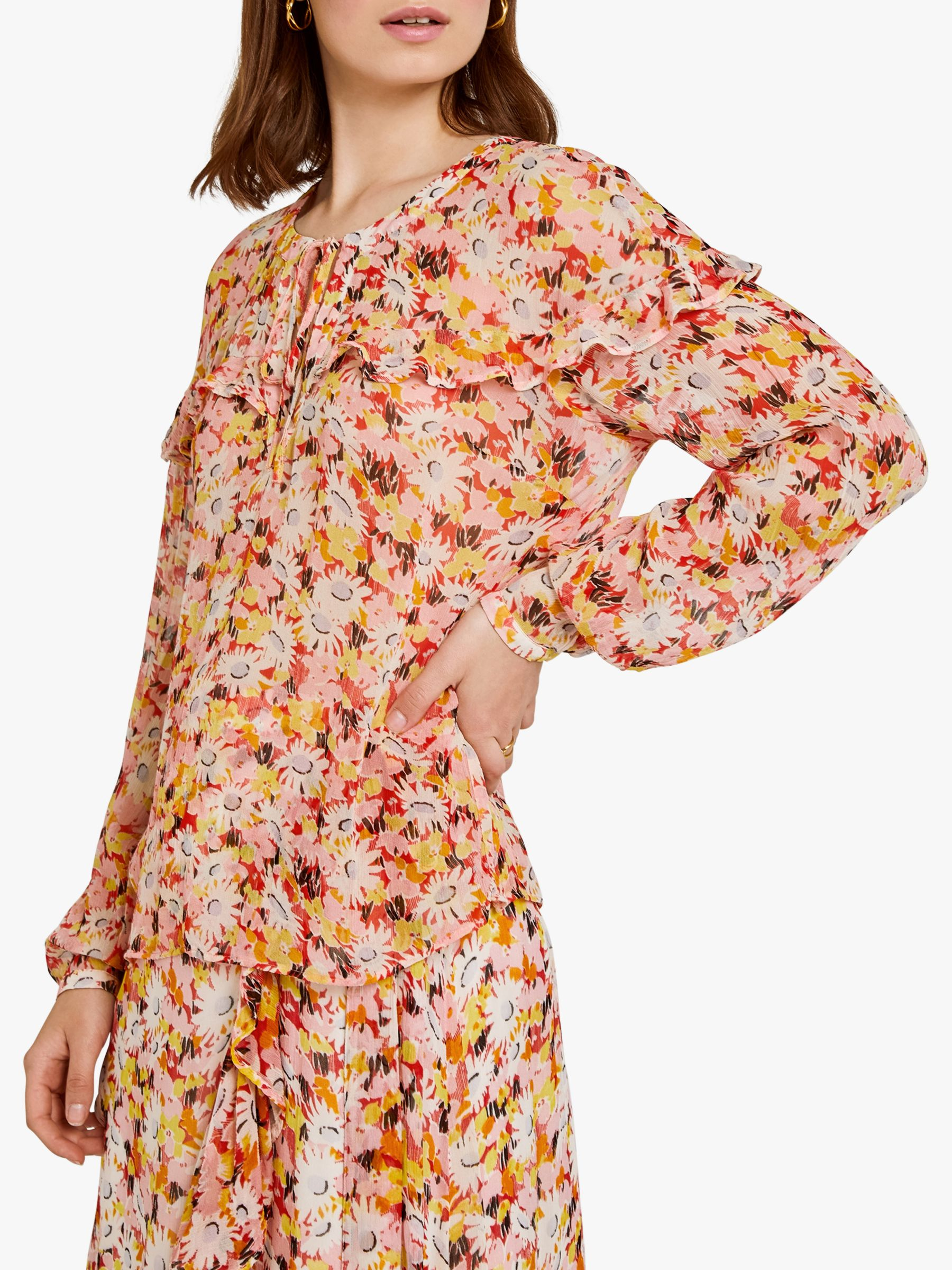 Ghost Ghost Bette Blouse, Retro Floral