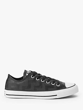 Converse Chuck Taylor All Star Glam Dunk Low-Top Trainers, Black/Grey