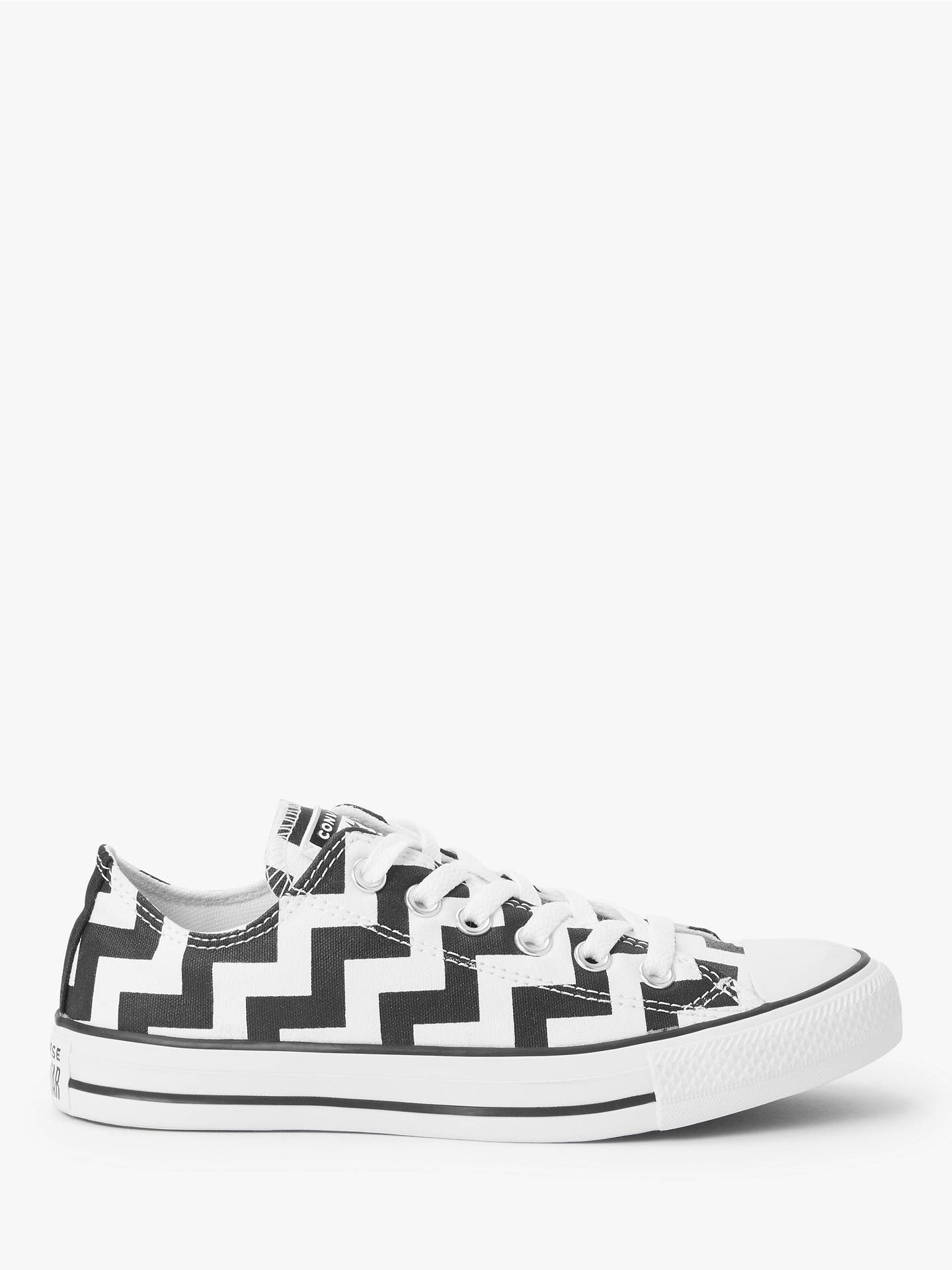 Buy Converse Chuck Taylor All Star Glam Dunk Low-Top Trainers, Black/White, 5 Online at johnlewis.com
