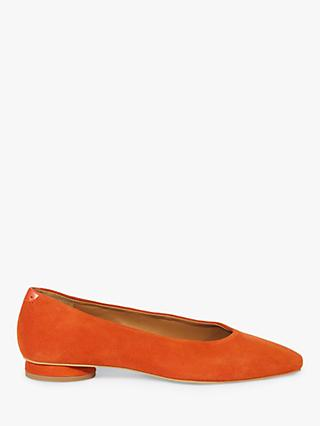 Jigsaw Arla Leather Soft Square Flat Court Shoes