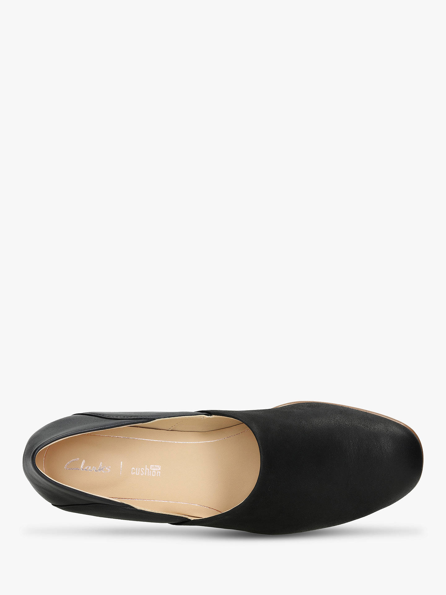 look good shoes sale purchase newest outlet Clarks Pure Tone Leather Flats, Black