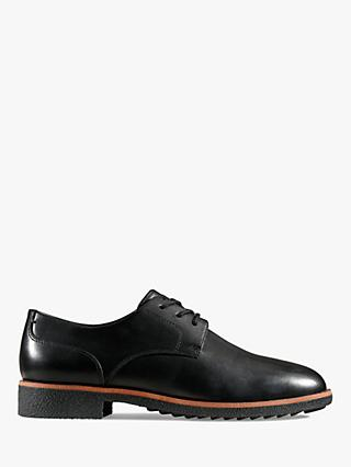 Clarks Griffin Lane Leather Brogues, Black