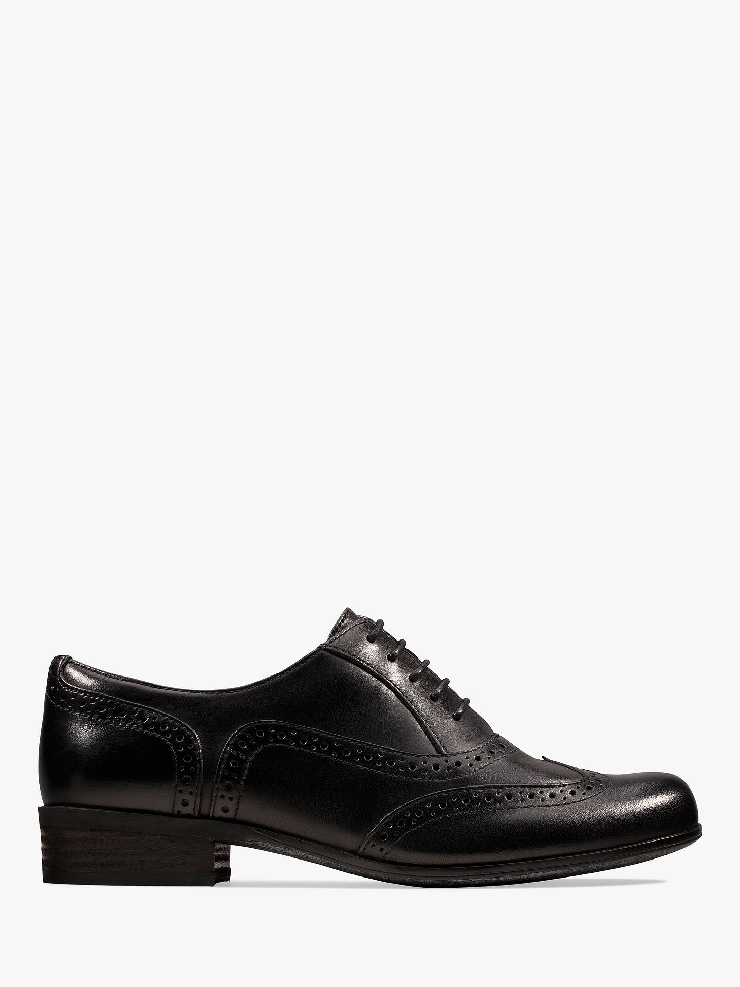 Clarks Hamble Leather Lace Up Brogues, Black by Clarks