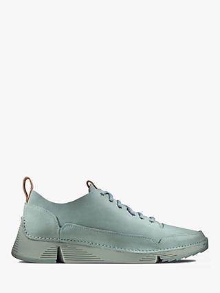 Clarks Tri Spark Nubuck Trainers, Blue