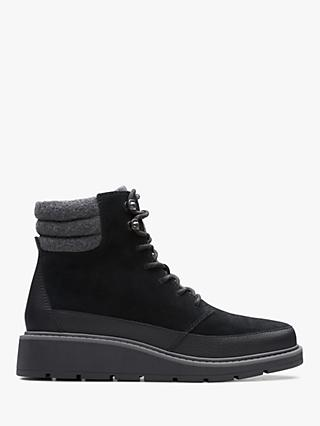 Clarks Ivery Trail Suede Lace Up Boots