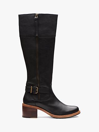 Clarks Clarkdale Sona Leather Knee High Boots