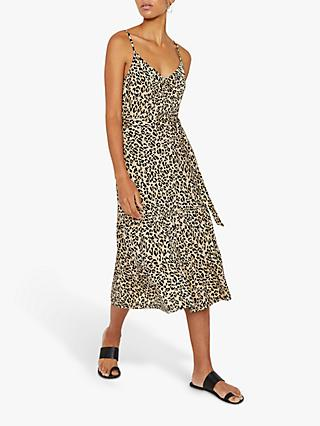 3ef8914fae4f Warehouse Leopard Tiered Cami Dress, Neutral