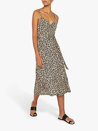 fa244dc923f7 Warehouse Leopard Tiered Cami Dress, Neutral