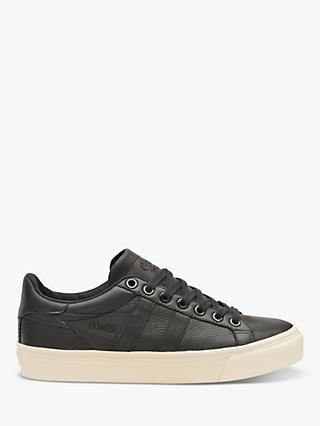 Gola Orchid Shimmer Lace Up Trainers, Black