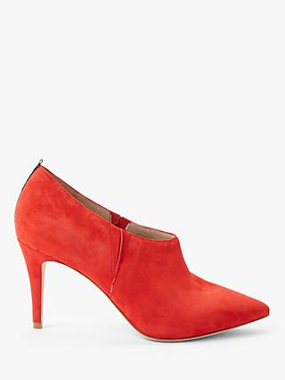 Boden Heswall Suede Shoe Boots, Post Box Red