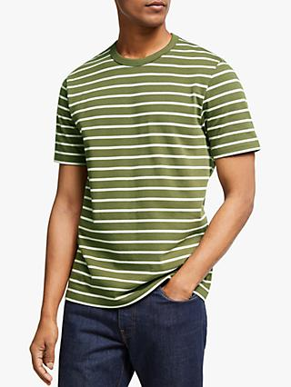 John Lewis & Partners Heavy Cotton Breton Stripe T-Shirt