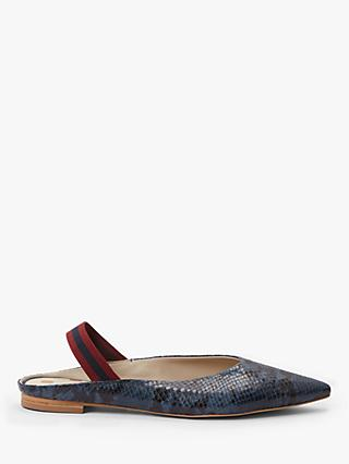 Boden Hannah Leather Slingback Flats, Navy