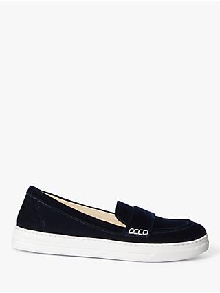 Boden Slip On Trainers, Navy