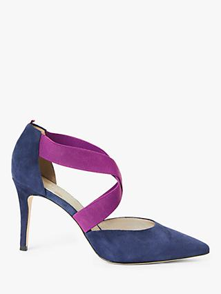 Boden Arabella Suede Cross Strap Court Shoes