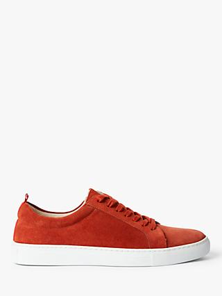 Boden Classic Suede Trainers, Orange