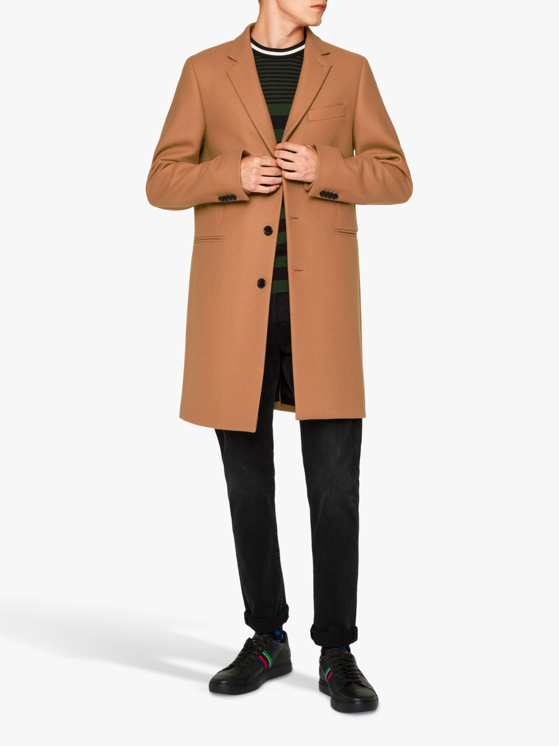 Paul Smith Paul Smith Wool Blend Overcoat, Camel