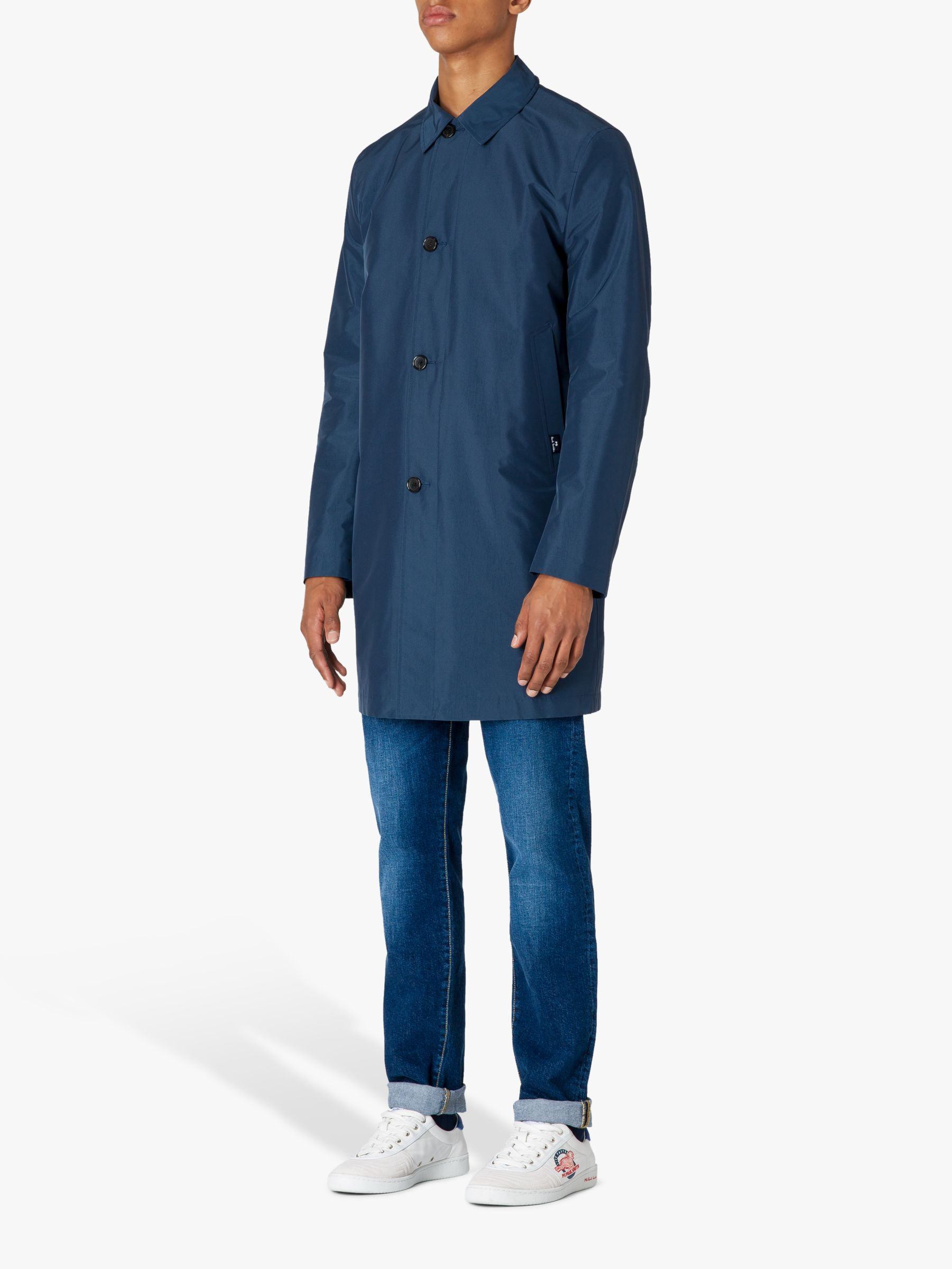 Paul Smith Paul Smith Waterproof Mac, Petrol Blue