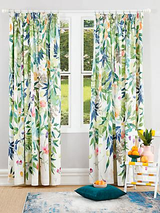 bluebellgray Valencia Pair Lined Pencil Pleat Curtains