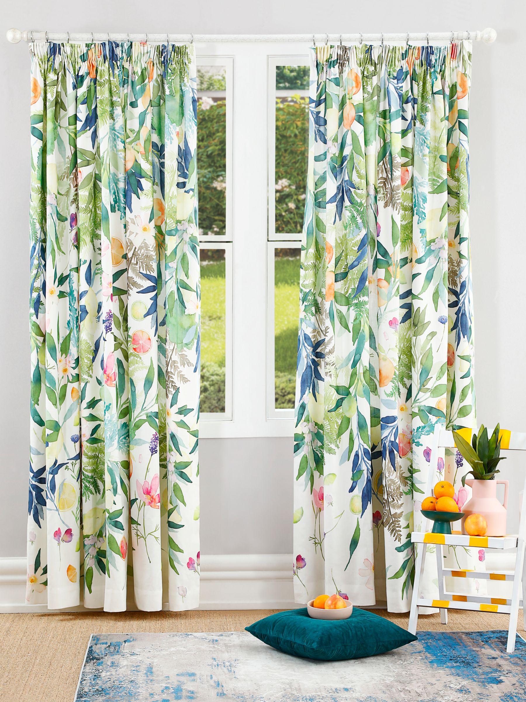 bluebellgray bluebellgray Valencia Pair Lined Pencil Pleat Curtains