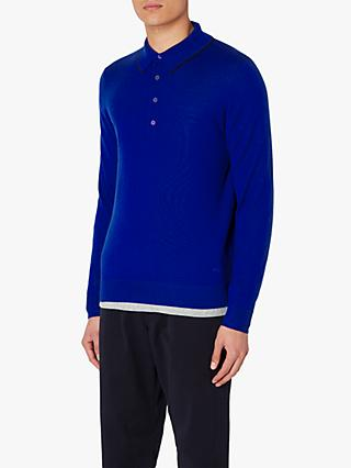 PS Paul Smith Merino Long Sleeve Polo Top