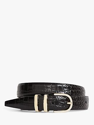 Reiss Kia Leather Snake Skin Belt