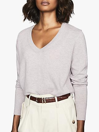 Reiss Luna Cashmere V-Neck Jumper