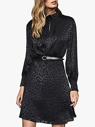 Reiss Matilda Silk-Blend Burnout Mini Dress