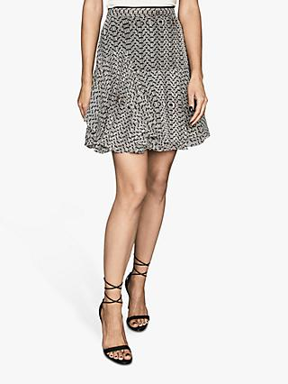 Reiss Margarita Bead Print Skirt, Neutral