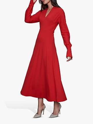 Winser London Tie Detail Midi Dress, Black