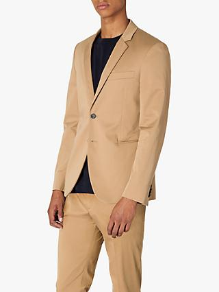 Paul Smith Cotton Blend Slim Fit Suit Jacket, Camel