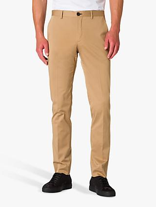 Paul Smith Cotton Slim Fit Suit Trousers, Camel