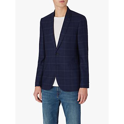 Paul Smith Wool Check Blazer, Blue