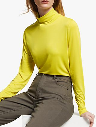 John Lewis & Partners Lyocell Roll Neck Top