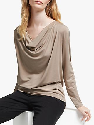 John Lewis & Partners Lyocell Cowl Neck Top
