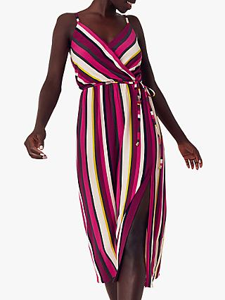 Oasis Stripe Midi Dress, Multi