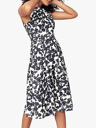 Oasis Floral Print Midi Dress, Blue/Multi