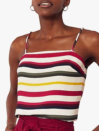 Oasis Square Neck Stripe Cami Top, Multi