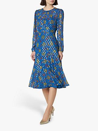 L.K.Bennett Ines Floral Dress, Pri-Ultrablue