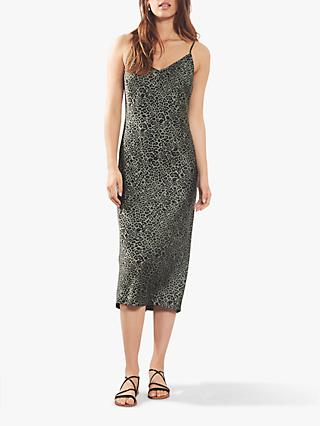 Mint Velvet Leopard Slip Dress, Multi