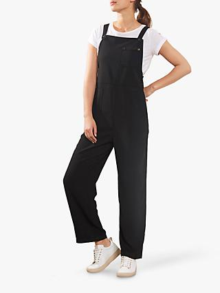 Mint Velvet Straight Leg Dungarees, Black