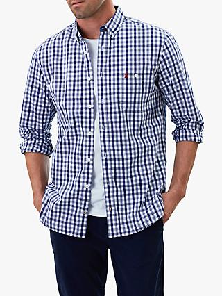 Joules Abbott Classic Fit Check Shirt, Navy/White