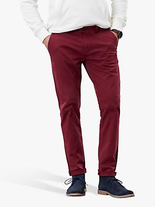 Joules Laundered Slim Fit Chinos, Middleton Red