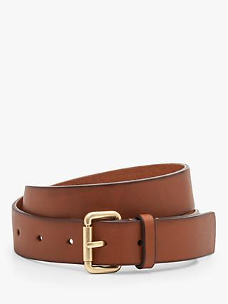 Boden Classic Leather Buckle Belt, Tan